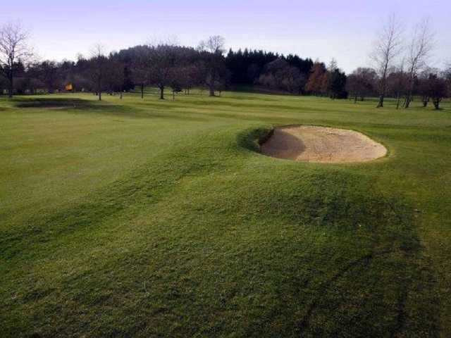 A view of the 2nd hole at Builth Wells Golf Club