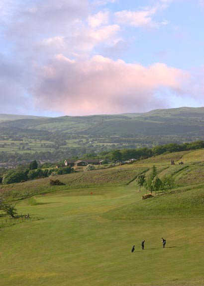 A view of fairway #16 at Llandrindod Wells Golf Club