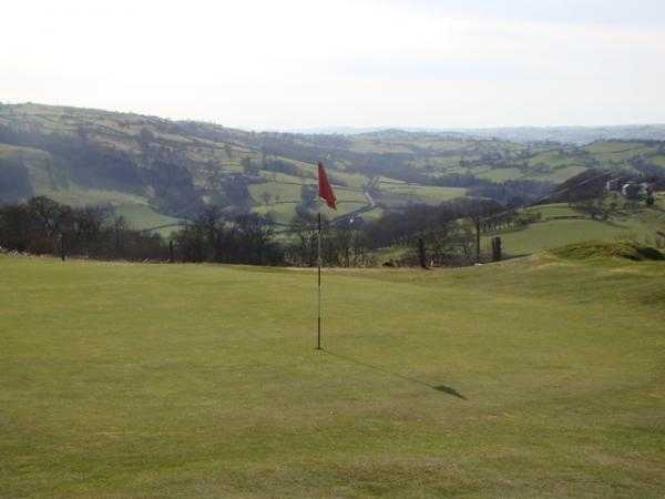 A view of green #10 at Welshpool Golf Club