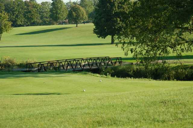 A view of a tee at Fellows Creek Golf Course