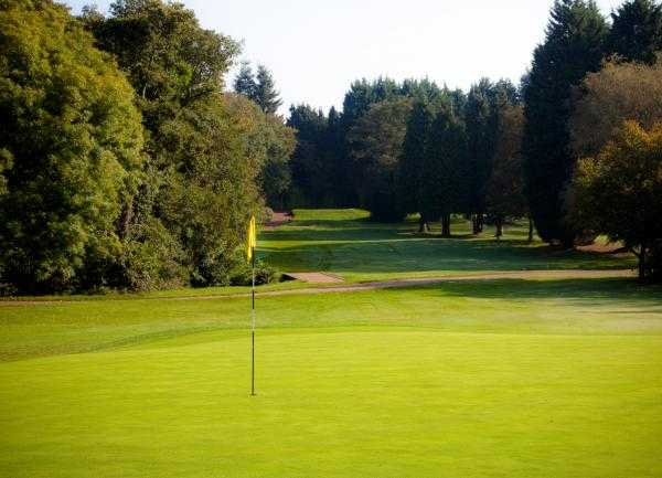 A view of the 9th hole at Cardiff Golf Club