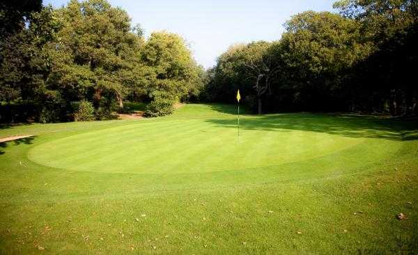 A view of green #18 at Cardiff Golf Club