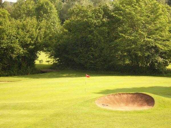 A view of the 17th hole at Creigiau Golf Club