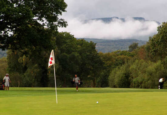 A view of the 3rd hole at Glynneath Golf Club