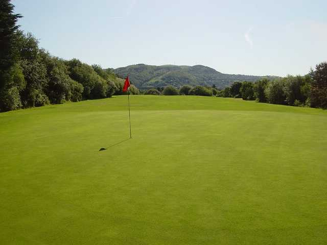 A view of a green at Swansea Bay Golf Club