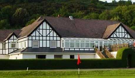 A view of the clubhouse at Swansea Bay Golf Club