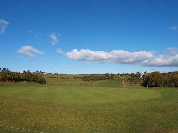 A view of green #10 at Clyne Golf Club
