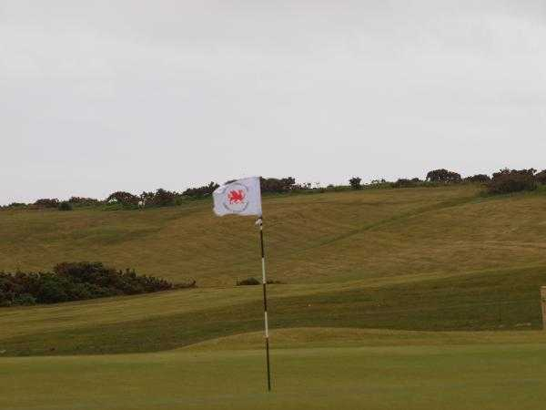 A view of the 18th hole at Clyne Golf Club