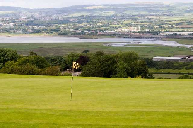 A view of the 6th green at Gower Golf Club