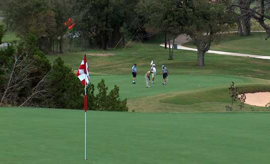 A view of a hole at Lady Bird Johnson Golf Club