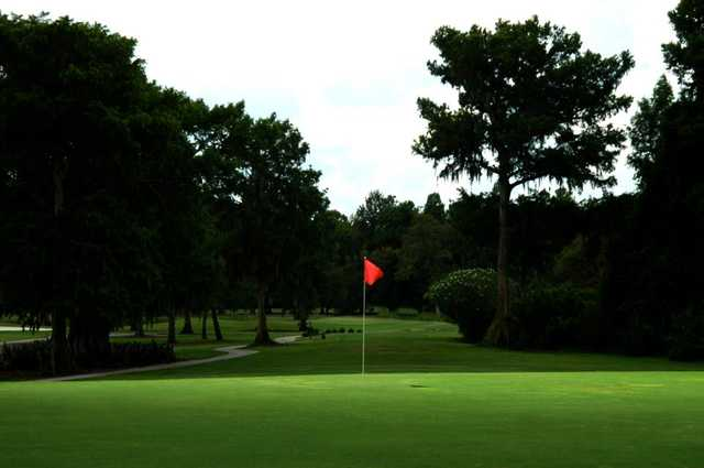 A view of a hole at Magnolia Valley Golf Club
