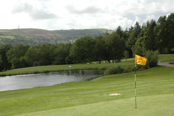 A view from the 5th green at Pontardawe Golf Club