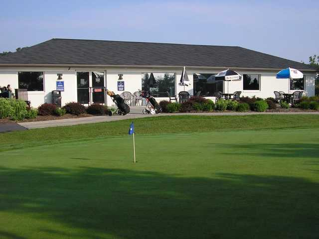 A view of the clubhouse at Liberty Forge Golf Course