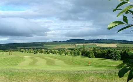 A view of a green at Djouce Golf Club
