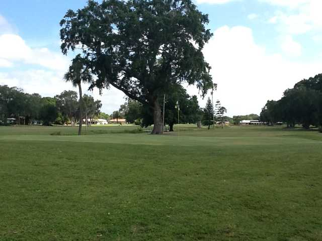 A view of a green at Village Green Golf Club