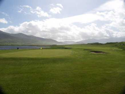 A view of green #1 at Castlegregory Golf Club