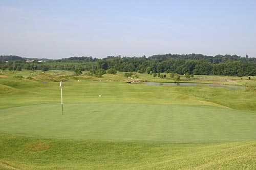A view of the 7th hole at Prairie from Tapawingo National Golf Club