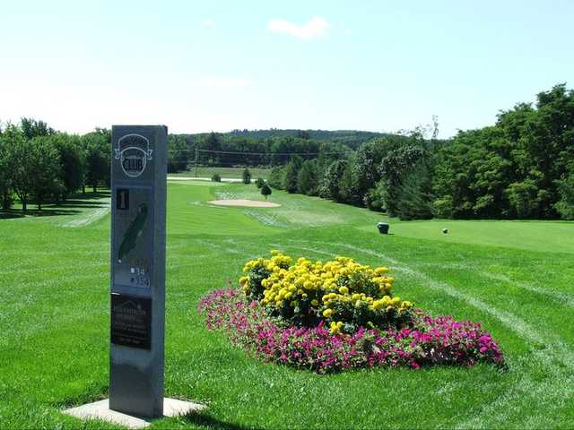 A view of tee #1 from Bridges nine at Waushara Country Club