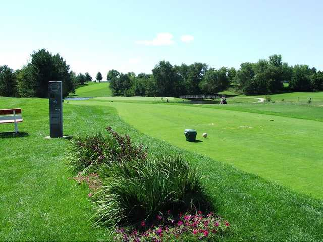 A view of the 7th tee from Westwoods nine at Waushara Country Club