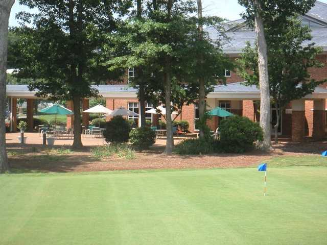 A view of the clubhouse at Kiln Creek Golf Club & Resort.