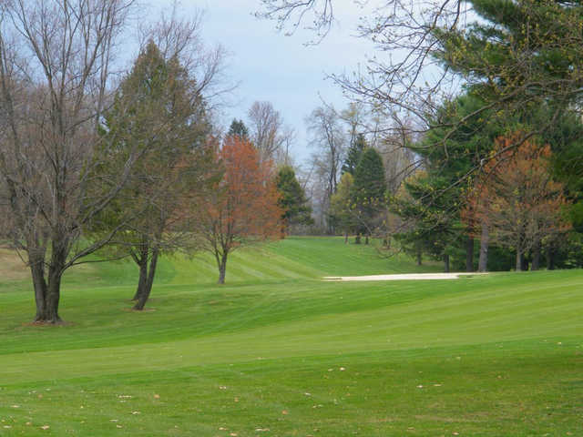 A view of a fairway at Susquehanna Valley Country Club