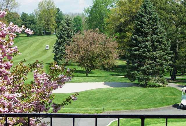 A spring view of a fairway at Yardley Country Club