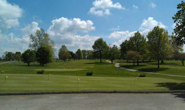 A view from the clubhouse at Cassville Golf Club