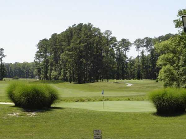 A view of hole #18 at Great Hope Golf Course