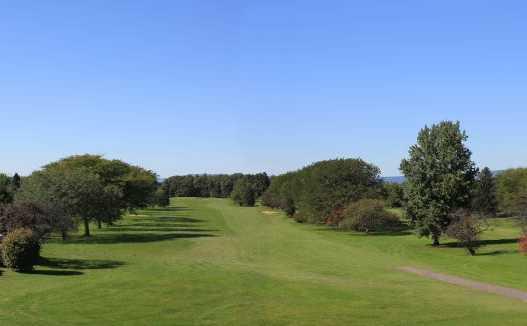 A view of fairway #1 at Cumberland Golf Club