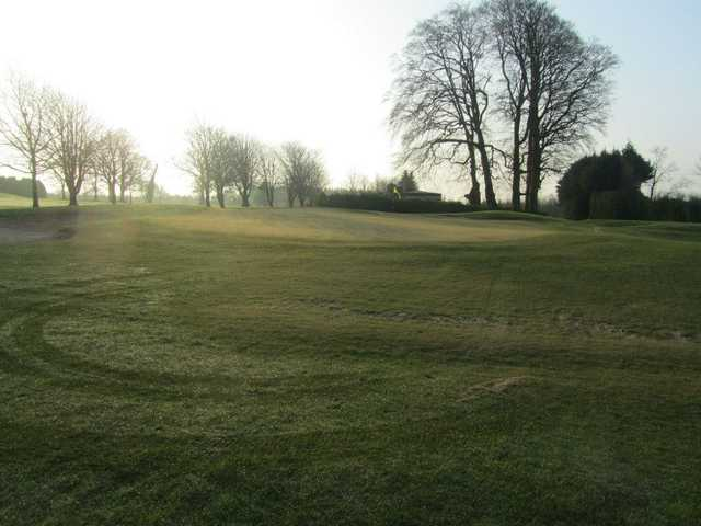 A view of green #2 at Roscommon Golf Club