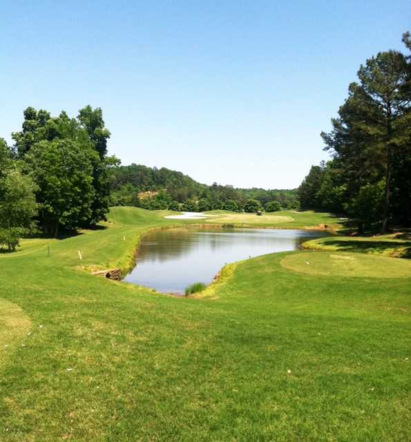 A view of a tee at Cherokee Ridge Country Club