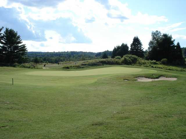 A view of the 4th green from Homestead at Wolf Ridge