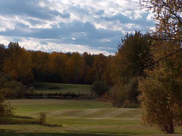 A fall view from Silver Sands Golf Course