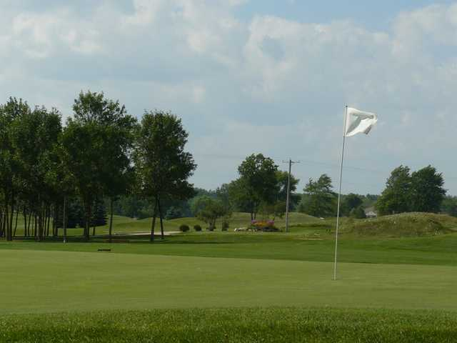 A view of the 7th hole at West Bend Lakes