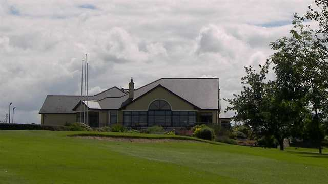 A view of the clubhouse at Mountrath Golf Club