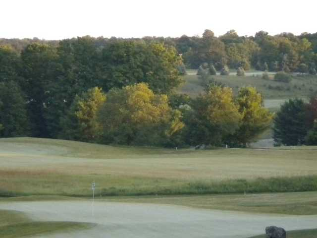 A view from the pro shop of the Red at Mistwood Golf Course