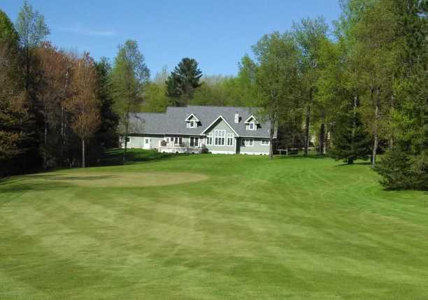 A view of the clubhouse at Lakewood on the Green Golf Course
