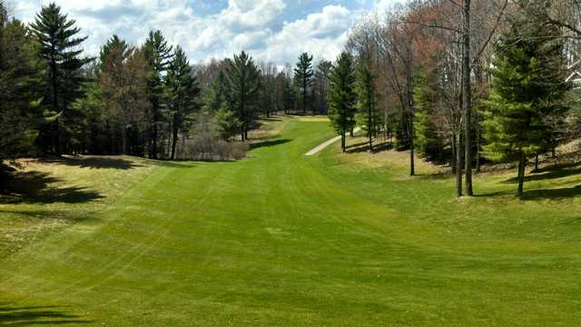 A view from a fairway at Lakewood on the Green Golf Course