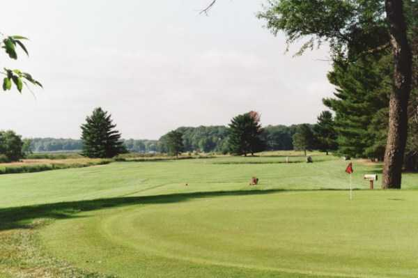 A view of hole and fairway #1 at Pine Trail Golf Course