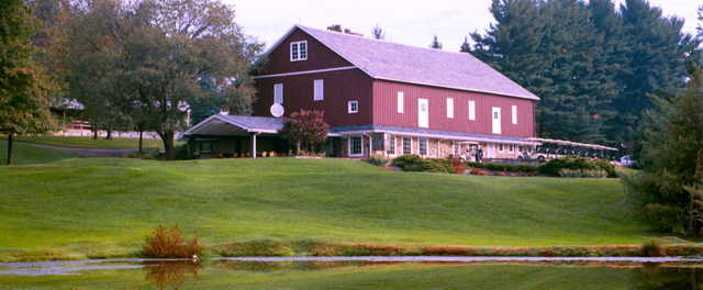 A view of the clubhouse at Meadowink Golf Course