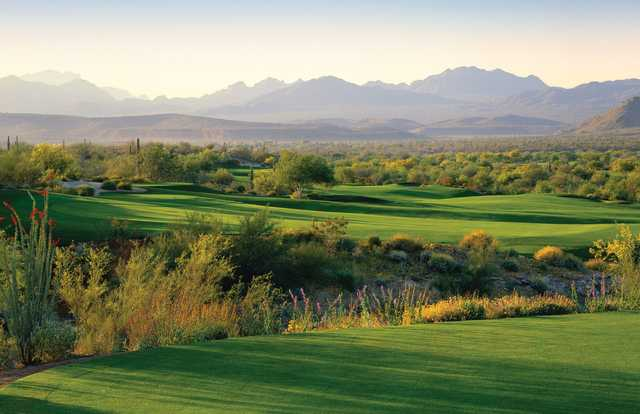 A view of the 17th fairway at Cholla Course from We-Ko-Pa Golf Club