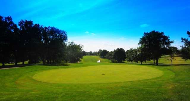 A view of a green at Cypress Ridge Golf Course