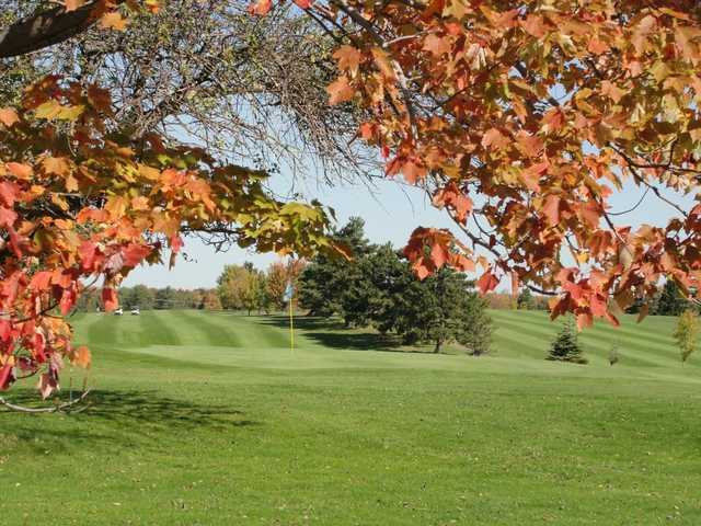A fall view of the 4th green at Holland Hills Country Club