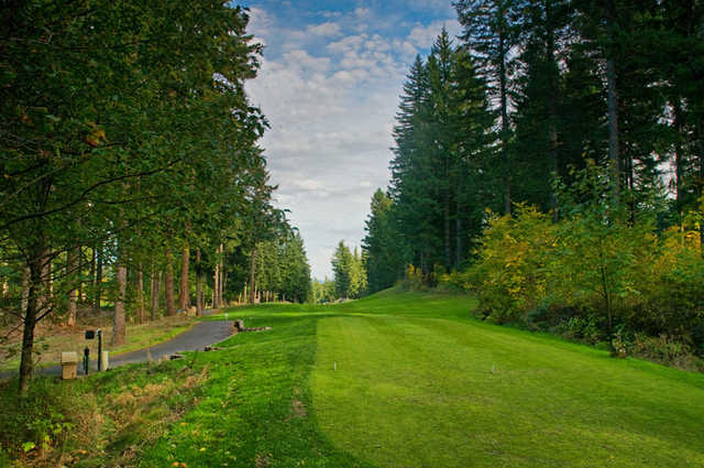 Skamania Lodge #18: This double dogleg par 5 is rarely man's best friend. A strong finish to what we hope was a great day, this hole requires accuracy from tee to green to avoid finding the huckleberry bushes. Favor the left side of the fairway off the te