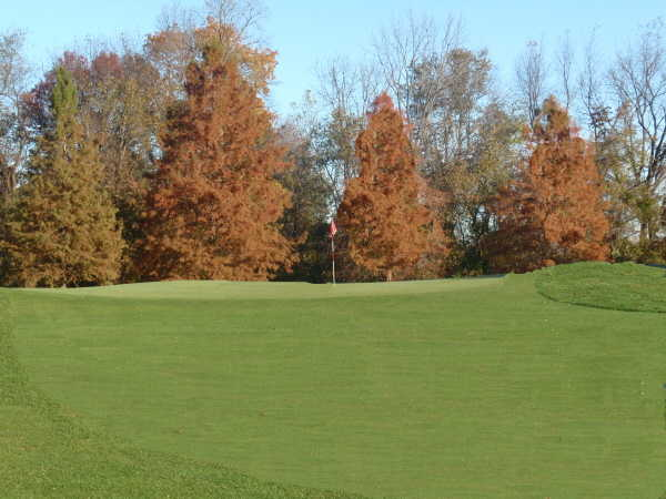 A view of green #5 at Monocacy from Bethlehem Golf Course