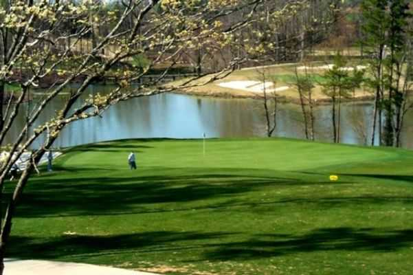 A view of green #18 at Warrior Golf Club