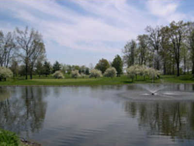 A view over the water from Willow Run Golf Course