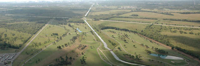 Aerial view of the Bayou Golf Course