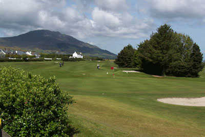 A view of the 9th hole at Greenore Golf Club