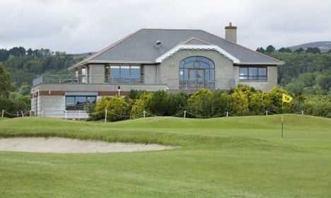 A view of the clubhouse at Dungarvan Golf Club